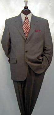 Mens Charcoal Gray 100% Wool Suit Available in 2 or 3 Buttons