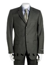 Charcoal Gray Multi Pinstripe Available in 2 or 3 Buttons Style Regular Classic Cut Super 120s Wool