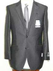 Light Weight Fabric Charcoal 2 Button Cheap Priced Business Suits Clearance