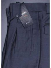 Mens Wide Leg Pleated Pant With Flap Pockets By Tiglio