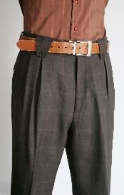 Velenti Brand Mens Wide Leg Pants Charcoal unhemmed unfinished bottom