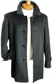 Dress Coat 3 Quarter Charcoal Wool Jacket