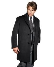 Mens Dress Coat 90% Wool Sports Coat Charcoal  Mens Overcoat Winter