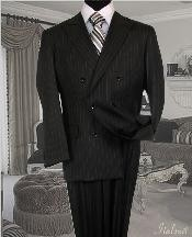 Suit With Pinstripe Full Canvanced Poly~Rayon Wool Feel Pleated Pants