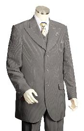 3 Piece Vested Charcoal Fashion Zoot Suit