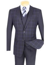 Mens charcoal Plaid ~ Windowpane Slim Fit Blazer ~ Sport Jacket