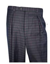 Mens Plaid ~ Checker Pattern Wide Leg pants Available in Blue or Brown or Olive or Burgundy