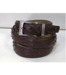 Authentic Brown Ostrich Belt