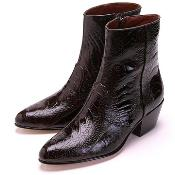 Mens Brown Ostrich Leg