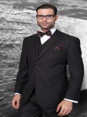 mens 3 piece pinstripe suit