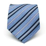 Classic Blue Necktie with Matching Handkerchief - Tie Set