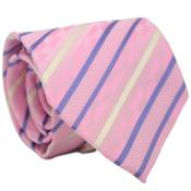 Classic Pink Necktie with Matching Handkerchief - Tie Set