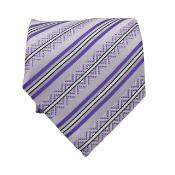 Classic Purple Necktie with Matching Handkerchief - Tie Set