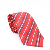 Classic Red Necktie with Matching Handkerchief - Tie Set