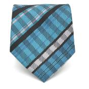 Slim Tourquoise Glen Necktie with Matching Handkerchief - Tie Set