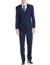 Nardoni Suit Slim Skinny European fit Vested 3 Pieces Suit Notch
