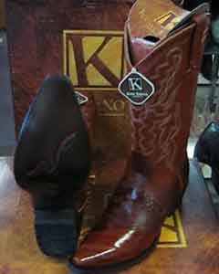 Exotic Cognac Snip Toe Genuine Eel Western Cowboy Dress Cowboy Boot Cheap Priced For Sale Online ~