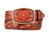 Belt Cognac Original Lizard