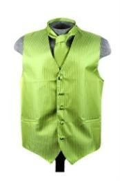 Vest Tie Set Spinach Green