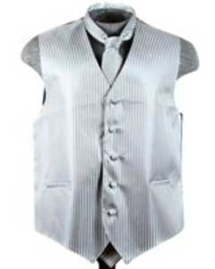 Tuxedo Wedding Vest ~ Waistcoat ~ Waist coat Tie Set Grey Buy 10 of same color Tie