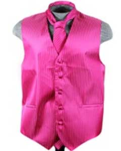 Tuxedo Wedding Vest ~ Waistcoat ~ Waist coat Tie Set Red Violet Buy 10 of same color