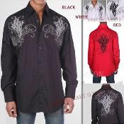 100% Cotton Stylish Casual Fashion Shirt With Embroidered Design Multi-Color