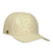 Cream ~ Ivory ~ Off White Genuine Ostrich Cap