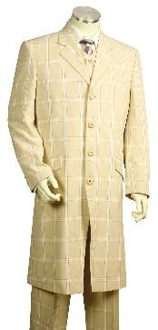 Stylish Zoot Suit Plaid ~ Windowpane Cream