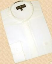 Ivory Banded Collar Cotton