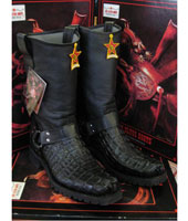 Los Altos Genuine Crocodile ~ World Best Alligator ~ Gator Skin Black Motorcycle Biker Western Cowboy Work