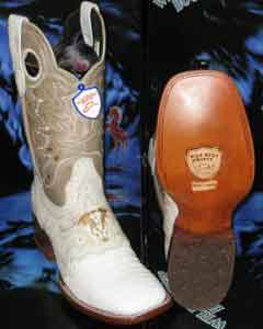 Gator Skin Belly Square White Rodeo Western Cowboy Boot  ~ World Best Alligator Wild West Genuine
