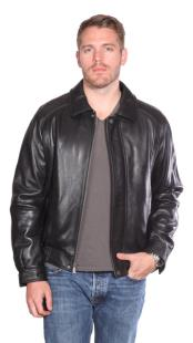 Easton Leather Bomber Black