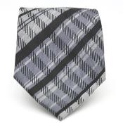 Black Glen Classic Necktie with Matching Handkerchief - Tie Set