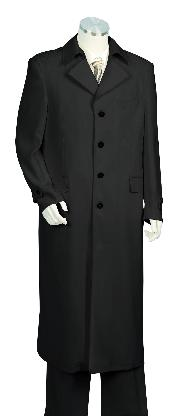 3 Piece Vested Black Zoot Suit