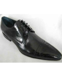 Brand Mens Dotted Black Formal Dress Shoe
