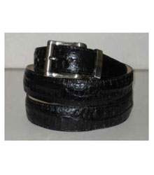 Mens Genuine Authentic Black Crocodile ~ World Best Alligator ~ Gator Skin Belt