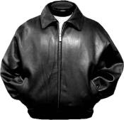 Black Leather Bomber tanners avenue jacket Lambskin Zip out Liner