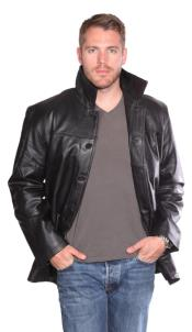 Leather Long Jacket Carcoat ~ Peacoat Black