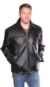Big and Tall Bomber Jacket Black