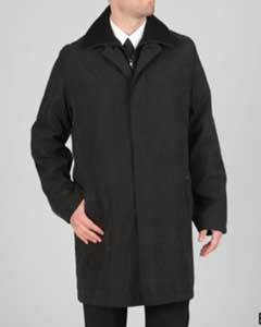 Microfiber Raincoat Black