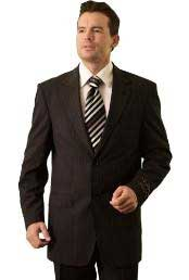 Mens Black Pinstripe ~