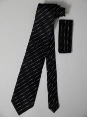 Tie Hanky Black Silver