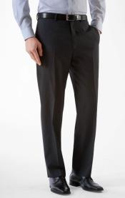 Alberto Black Slim Fit Dress Pants