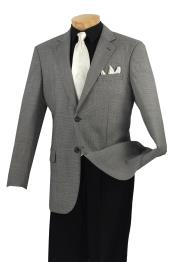 Mens Wool Sport Coat Black Birdseye