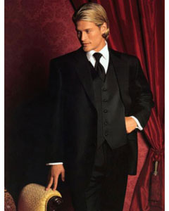 Fitted Slim Fitc Cut Traditional Best Designer One Button Black Tuxedo Suit