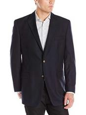 Men s Black 2 Button Cheap Priced Fashion Blazer