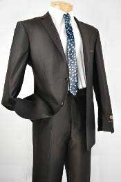 Black Single Breasted 2 Button Slim Fit Cheap Priced Business Suits
