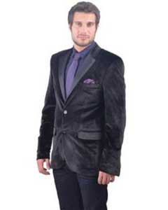 Fitted Velvet Blazer with