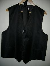 BLACK DRESS TUXEDO WEDDING Vest ~ Waistcoat ~