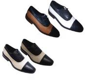 Dress Shoes Black With White